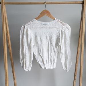 ZARA Cream Cropped Sweater